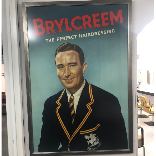 Vintage Large Denis Compton Brylcreem Advertisement Poster VIN193B