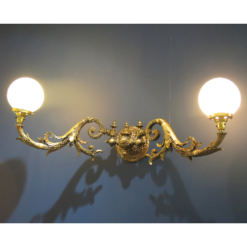 Antique Brass Double Light VIN254D