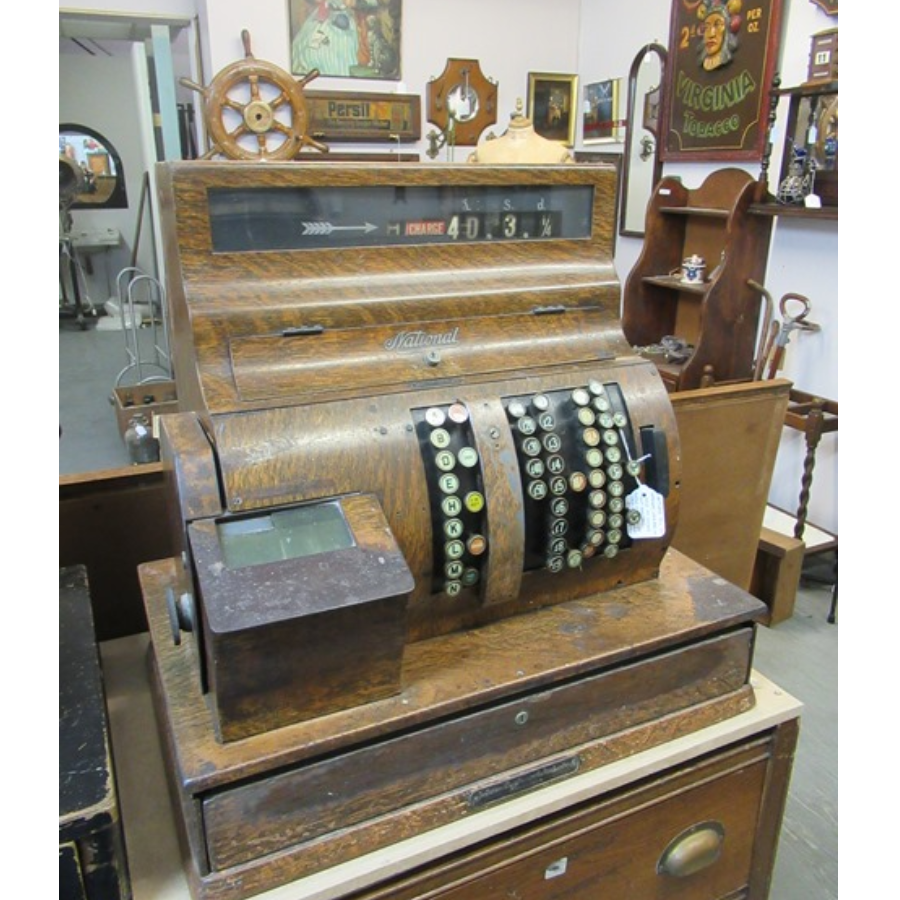 Antique Wooden National Cash Register Till VIN385A