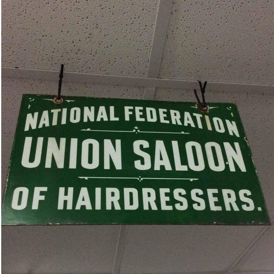 Vintage Double Sided Union Saloon Enamel Sign VIN380A