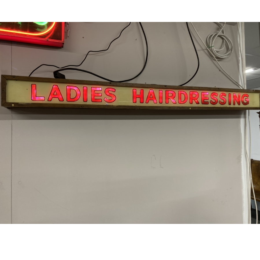 Vintage 1950's Ladies Hairdressing Sign VIN370A