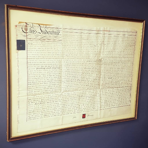 Antique Indenture For Nathan and Edmund Pratt VIN31N