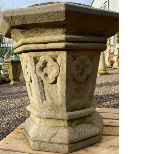 Substantial 19th Century stone Gothic Urns VIN514C