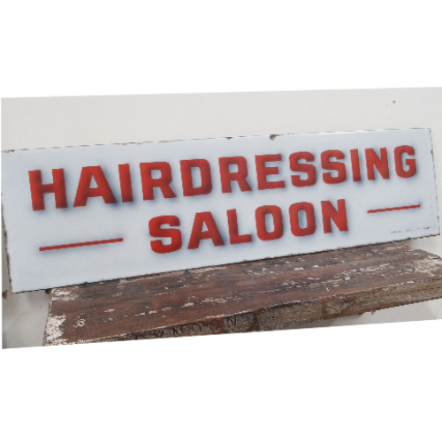 Vintage Rare 'Hairdressing Saloon' Enamel Sign VIN384A